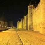Carcassonne La Cite, inner and outer walls