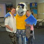 Meeting Macca Macaw in the Activity Centre