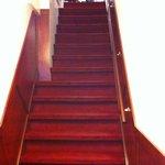 le scale all'entrata