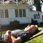 Very relaxing out on the lawn.....husband passed out...he'll get me back for this