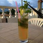 Noel's famous mojito up on the terrace