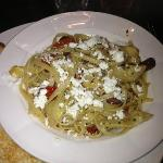 GREEK PASTA with Olives, Artichokes, Sun Dried Tomatoes