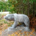 A giant bear! I kid you not!