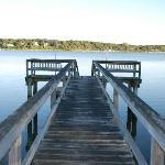 The Cove's private dock
