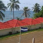 View of Casa Canada & the ocean from 2nd floor balcony