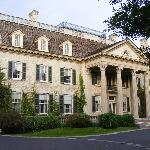 The mansion is 35,000 square feet, with 50 rooms, 15 bedrooms, 9 fireplaces and 13 baths.