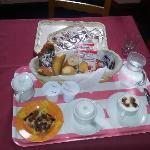 La colazione servita in camera