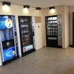 vending machines at reception