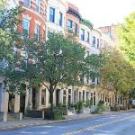 View of the typical Harlem houses in Convent Ave