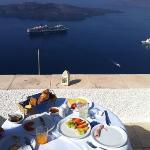 a delicious breakfast with beautiful views
