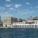 karakoy rooms (building in middle w/greenish aqua windows) from bosph. cruise