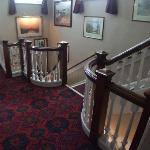Hotel stairs - lots of victorian charm