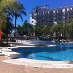 beautiful pool area at the Andalucia Plaza