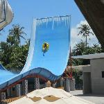 Fun slide at waterpark