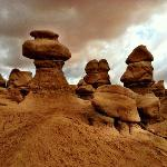 Goblin Valley, east and north of Notom on the way to Moab