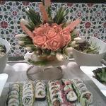 ужин японский