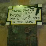 Sign at tunnel
