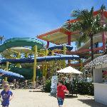 Slides at waterpark