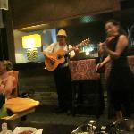 Entertainment at main restaurant during dinner