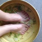 My pre-service foot soak