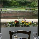 Restaurant view over looking New Minster Pool
