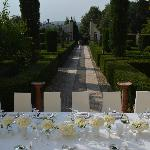 Lovely setting for wedding reception