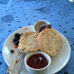 Homemade jams olives, fresh bread,....