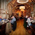 The stunning barn dining area