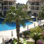 View of pool area from apartment