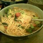 "My ""Red Sea Noodle Soup"" which was not the usual spice!!!!"