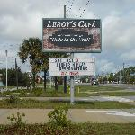Leroy's Cafe:  Easy to spot from US 1 South