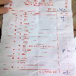 our receipt,10 persons meal cost us rm403