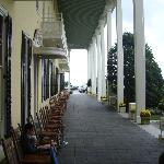 Congress Hall - Back of Hotel. Great rocking chairs for relaxing.
