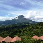 Stunning view of the Arenal Volcano from hotel