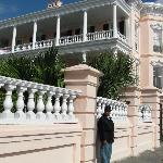 That's me in uniform, in front of The Pink Palace