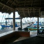 A view of the Marina from the palapa where everyone gathers to solve the worlds problems.
