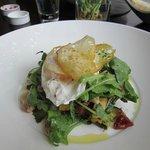 Brunch Egg, Bacon Salad