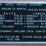 Preistafel in pesos/dollars Okt. 2012