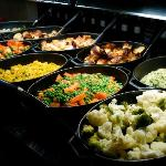 Food from the carvery at our wedding