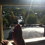 Lovely view, excuse the feet lol!!!
