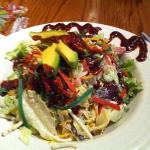 chicken Santa Fe barbecue salad w/avocado