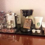 In-room refreshment setup