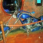 Custom Mermaid Bike on display at the Silverton