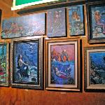 Mermaid Paintings on display at the Silverton