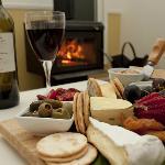 Cheese platter & wine