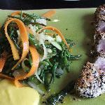 Tuna and veg ribbons