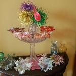 Napkin rings decorating a hall table
