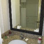 Basin & part of the bathroom