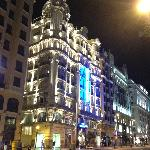 Nightime view of hotel