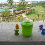 Trash back curtindo a vista do resort!!